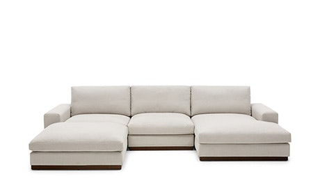 Brooklyn Modular U-Sofa Bumper Sectional